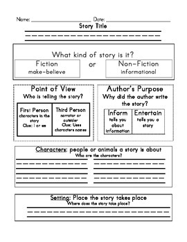 Comprehension Sheet