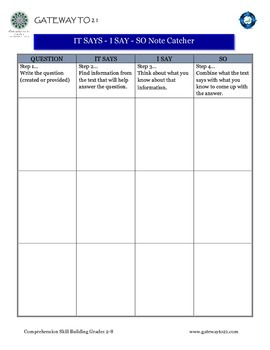 Comprehension Skill Building: Research-Based and Common Core Aligned