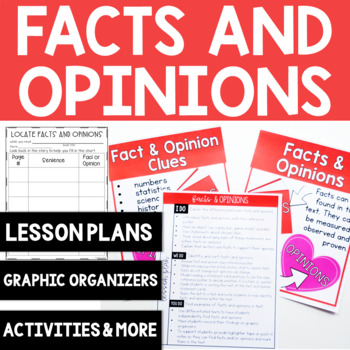 Comprehension Skill: Fact and Opinions {8 Graphic Organizers}