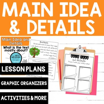 Comprehension Skill: Main Idea and Details {8 No Prep Activities}