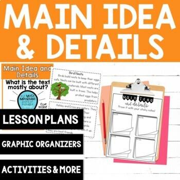 Comprehension Skill: Main Idea and Details {8 No Prep Activities}