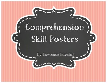 Reading Comprehension Skill Poster Set