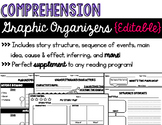 Comprehension Graphic Organizers {Editable}