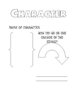 Comprehension Skill:Character- Graphic Organizer