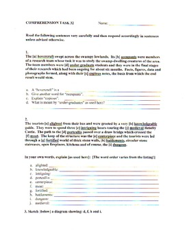 Comprehension Skills Topup Activities 2