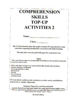 Comprehension Skills Topup Activities 2