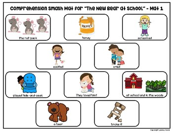 Comprehension Smash Mats for Back to School Books
