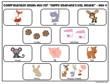Comprehension Smash Mats for February Books