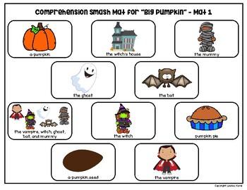 Comprehension Smash Mats for Halloween