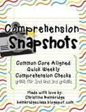 Comprehension Snapshots- Weekly Assessments & Practice CCSS- grades 2 and 3!