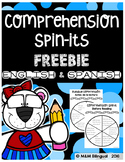 Comprehension Spin-Its Bilingual FREEBIE
