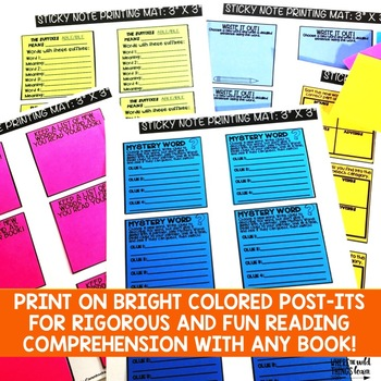 Comprehension Sticky Notes: Vocabulary