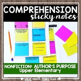 Comprehension Sticky Notes: NONFICTION Author's Purpose/Bias
