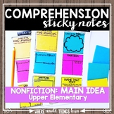 Comprehension Sticky Notes: NONFICTION Main Idea