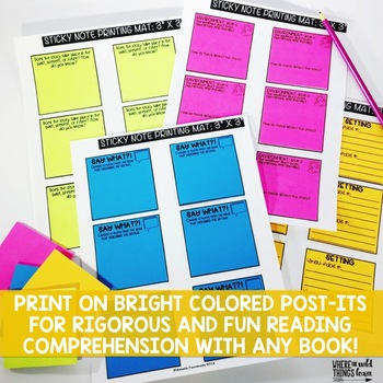 Comprehension Sticky Notes: Setting