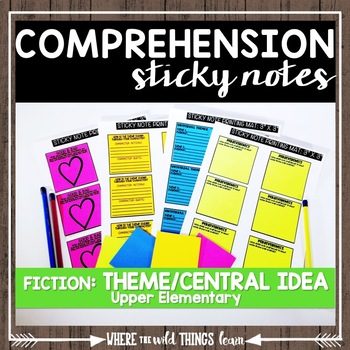 Comprehension Sticky Notes: Theme and Central Idea
