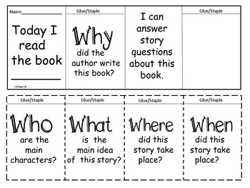 Comprehension Story Questions~Flip Flap Books~5 W Questions