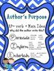 Author's Purpose, Main Idea, Summarizing & Making Inferences