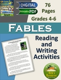 Close Reading Comprehension Activities Fables