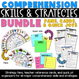 Comprehension Strategies Fans, Cards and Quick Jots BUNDLE