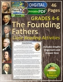 Close Reading Comprehension Activities Founding Fathers U.S. History