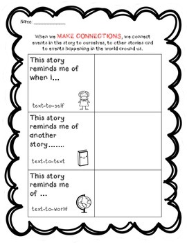Comprehension Strategies Graphic Organizers