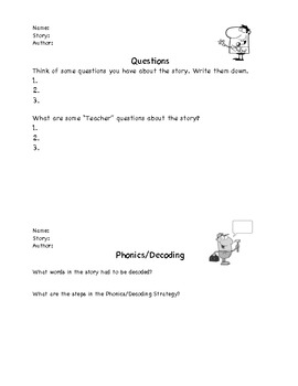 Comprehension Strategies Pages