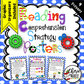Reading Comprehension Strategy Posters 2nd 3rd 4th 5th Grade Style 5