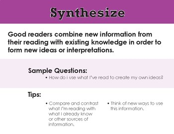 Comprehension Strategies Posters/Guide