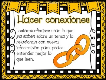 Reading Comprehension Strategies Posters in Spanish