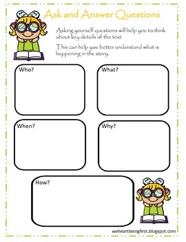 Comprehension Strategies ~Print and Go ~Use with any book!