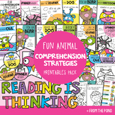 Comprehension Strategies Printable Pack {Fun Animal Prompts}