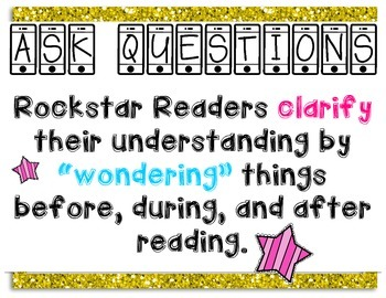 Rockstar Comprehension Strategy Posters