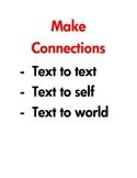 Comprehension Strategies SImple Posters