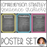Comprehension Strategies Sentence Starters {Poster Set}: Chalkboard Art