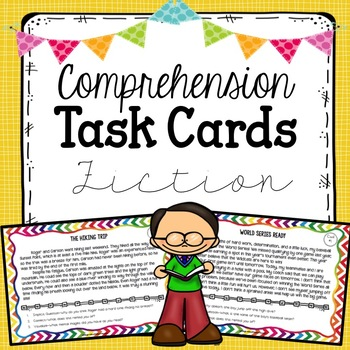 Comprehension Strategies Task Cards - Fiction