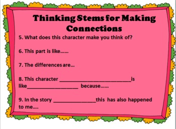 Comprehension Strategies & Thinking Stem Posters