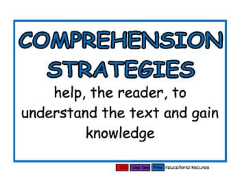 Comprehension Strategies blue
