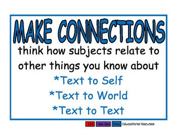 Comprehension Strategies blue