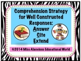 Comprehension Strategy: ACE Those Questions!