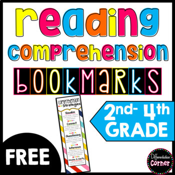 Comprehension Strategy Bookmarks *free*