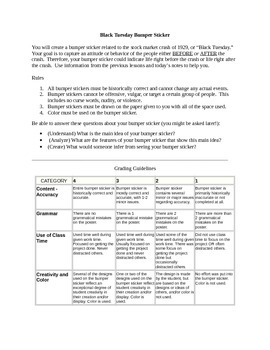 Comprehension Strategy - Bumper Sticker