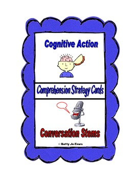 Comprehension Strategy Cards Cognitive Actions and Conversation Stems