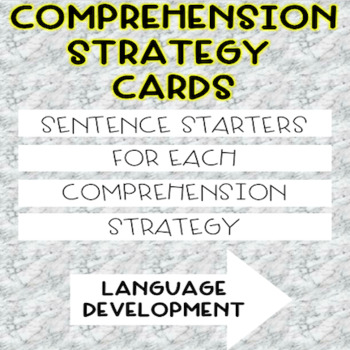Comprehension Strategy Cards-Sentence Starters