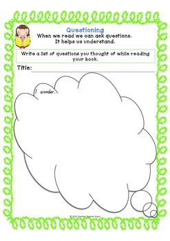 Comprehension Strategy Graphic Organisers for Reading K-3