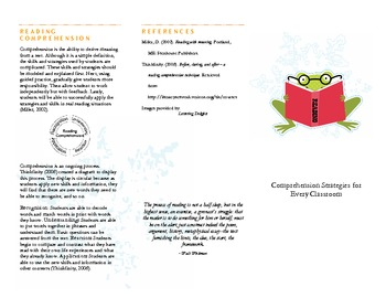 Comprehension Strategy Pamphlet