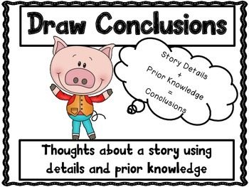 Reading Skills Posters-3 Pigs Theme
