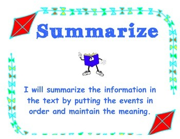 Comprehension Strategy Posters Grades 3-5