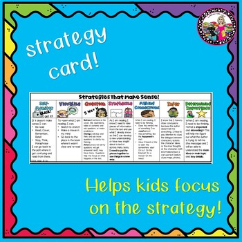 Comprehension Strategy Posters, Card & Teaching Tips!