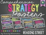 Comprehension Strategy Posters (Reading Street) Chalk Brights